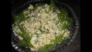 Вкусный и бюджетный салат с Мивиной Салат с вермишелью быстрого приготовления