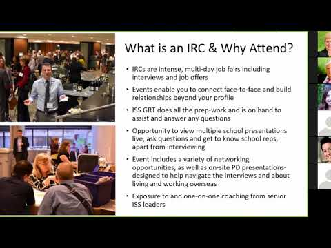 ISS Webinar 3: What is an IRC & How to Make the Most out of Your Recruiting Fair Experience!