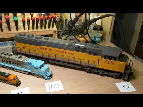 Comparing Model Railroad Gauges Z, N, HO and O