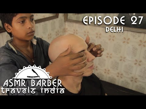 Young Indian Barber - Head Eyes and Eyebrows Massage - ASMR intentional