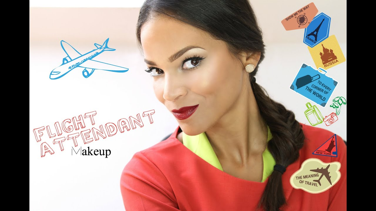 get ready with me - flight attendant makeup and hair 1