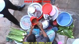 Healthy street food aloe vera juice How to Make Bengali Aloe vera shorbot for Health Benefits