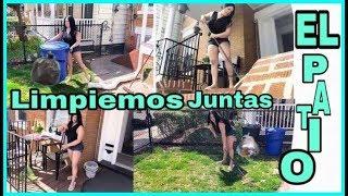 LIMPIEMOS JUNTAS EL PATIO video colaboracion  jenny alonzo vlogs RD/yanerismakeup