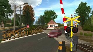Trainz Simulator Indonesia : Kompilasi Perlintasan Kereta Api 3