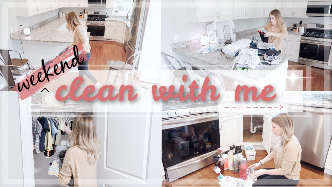 Clean With Me Spring 2019 Weekend Cleaning Routine Extreme Cleaning Motivation Catherineelaine