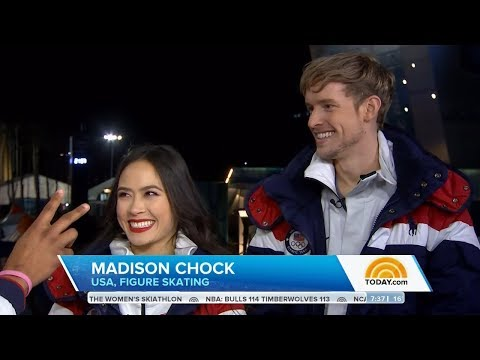 Madison Chock & Evan Bates Today Show Olympic Interview   LIVE 2-10-18