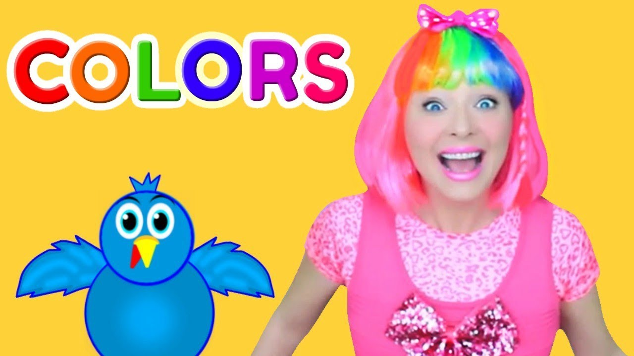 Learn Colors with Surprise Hair Colors | Color Song for Kids, Baby ...