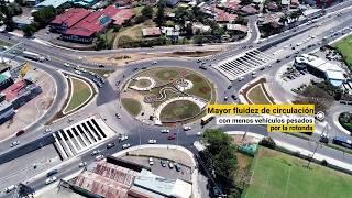 Nueva rotonda y paso a desnivel en la Garantías Sociales en Costa Rica