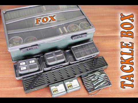 CBX001 Fox NEW Carp Fishing F Box Deluxe Large Double Tackle Box