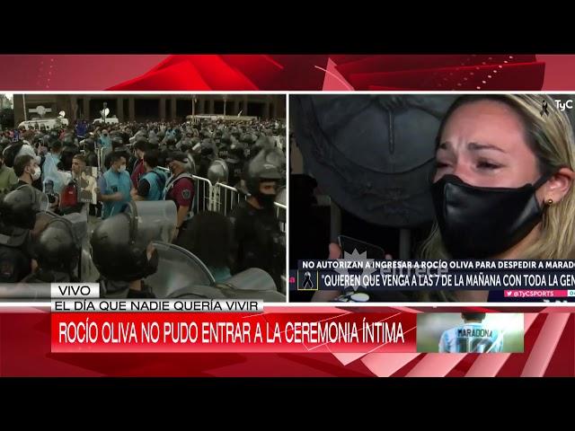 Rocío Oliva, la echaron del velorio íntimo de Maradona