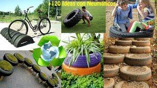 Reciclado de Neumáticos +120 Ideas / Recycled tires +120 Ideas