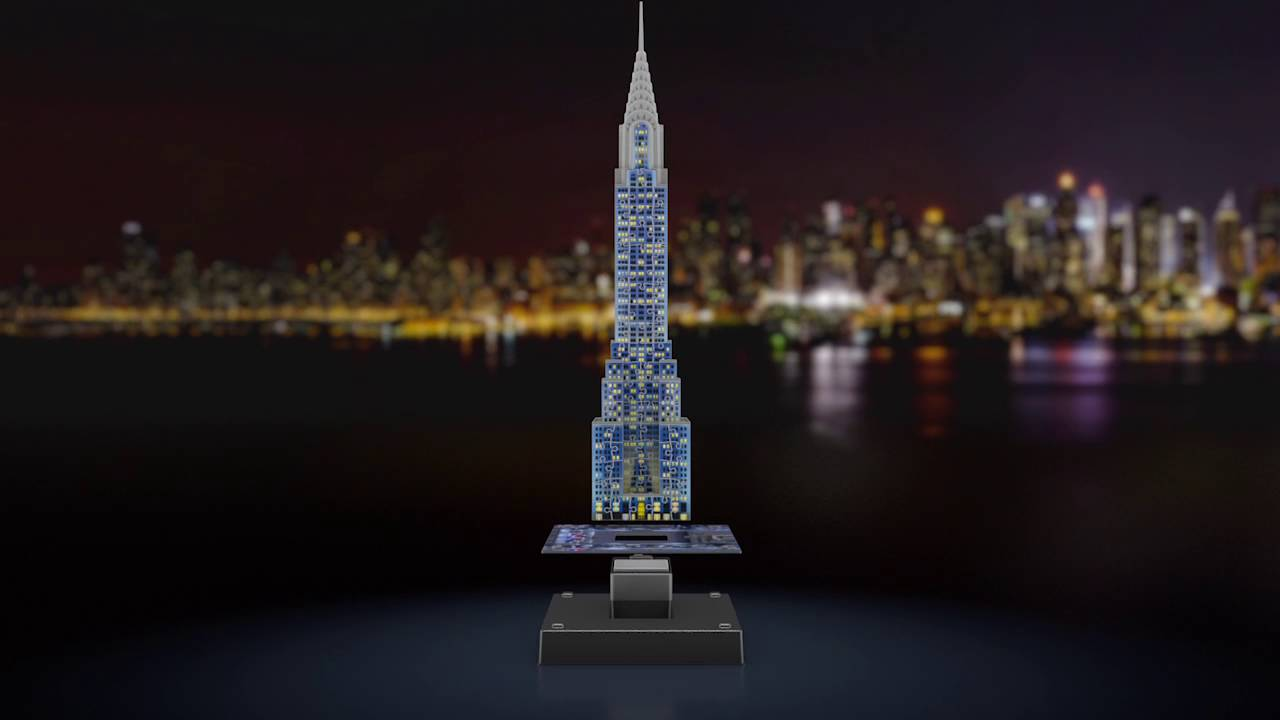 3d Moon Wallpaper Smyths Toys Ravensburger Chrysler Building 3d Puzzle