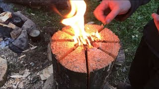 2 NIGHTS HAMMOCK CAMPING AND SWEDISH FIRE LOG AND MORE BENCH CARVING