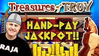 😱 MASSIVE High-Limit Slot Play = HANDPAY JACKPOT 🏴‍☠‍ EPIC Comeback On Treasures of Troy