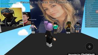 Guess that famous singer and pop songs on Roblox 😹