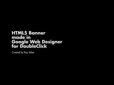 HTML5 Banner Tutorial in Google Web Designer