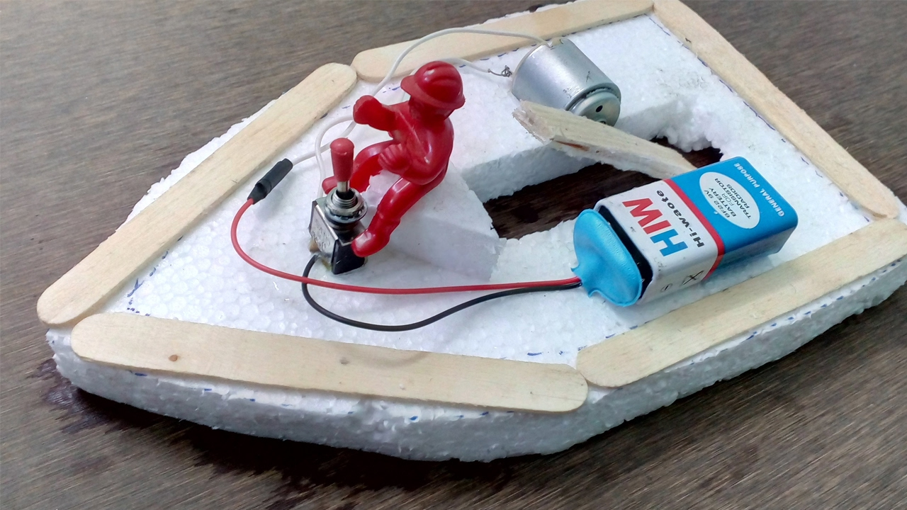 Make Electric Toy Boat - DIY Boat - YouTube