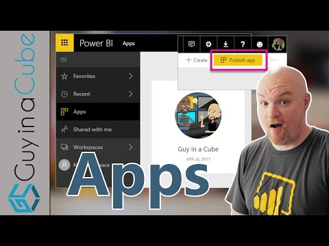 Using Apps and App Workspaces in Power BI