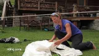 Géraldine Fasnacht dans Riding Zone - Une Reine du Base Jump