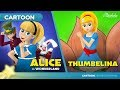 Alice in Wonderland and Thumbelina | Cartoon | Fairy Tales | Bedtime Stories for Kids in English