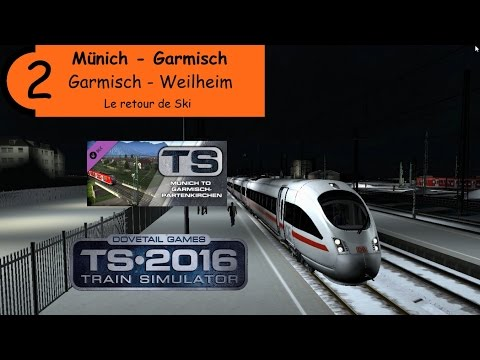 "[Train Simulator 2016][Munich - Garmisch] Carrière : ""Le retour de Ski"""