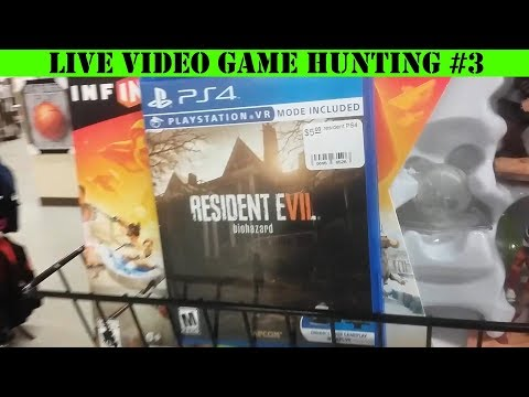 Live Video Game Hunting #3 - Dollar Stores, Flea Market And Thrift Stores!