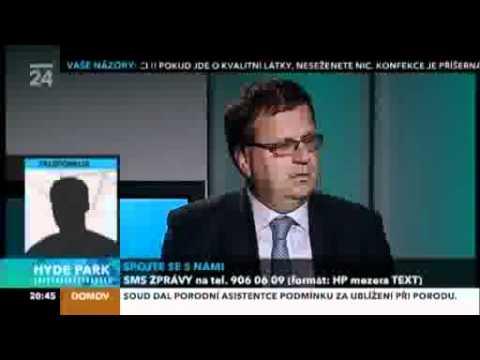 Jan Mládek v pořadu České televize Hydepark - 21.9.2011