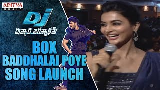Box Baddhalai Poye Song Launch @ DJ Audio Launch Live Event