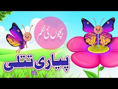 Rangi Barangi Pyari Titli   Nursery Rhymes   Kids Poem   Bachon Ki Nazam