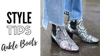 How To Style Ankle Boots | Fashion Trends 2018