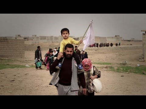 East Mosul residents settle into camps for internally displaced