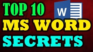 Ms Word Tips And Tricks, Secrets of Ms Word [Easy And Important] ✔