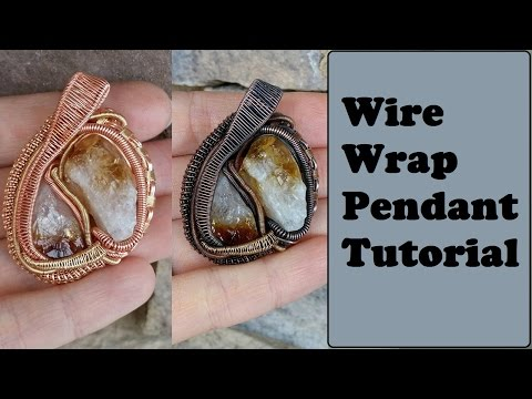 Heady/Heddy Style Wire Wrapped Pendant Tutorial, Rough Stones/Crystals