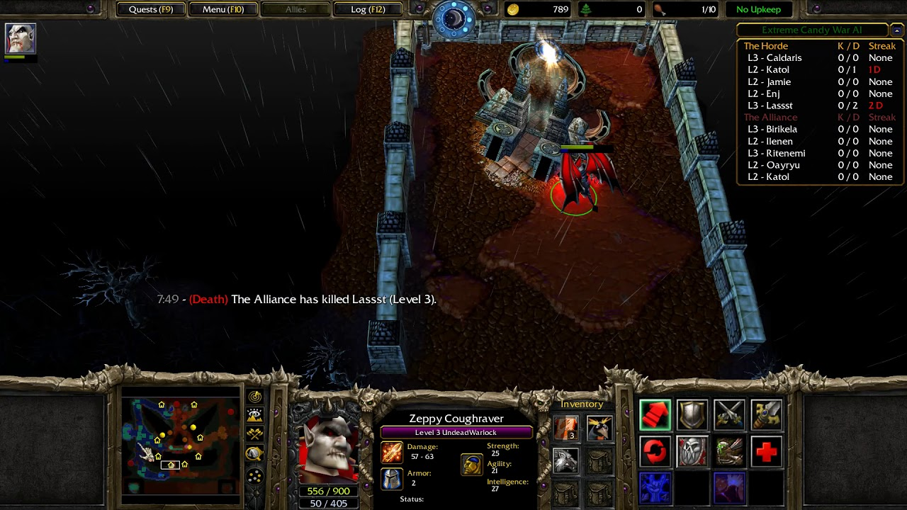 Warcraft 3 Custom Maps Extreme Candy War Ai Youtube