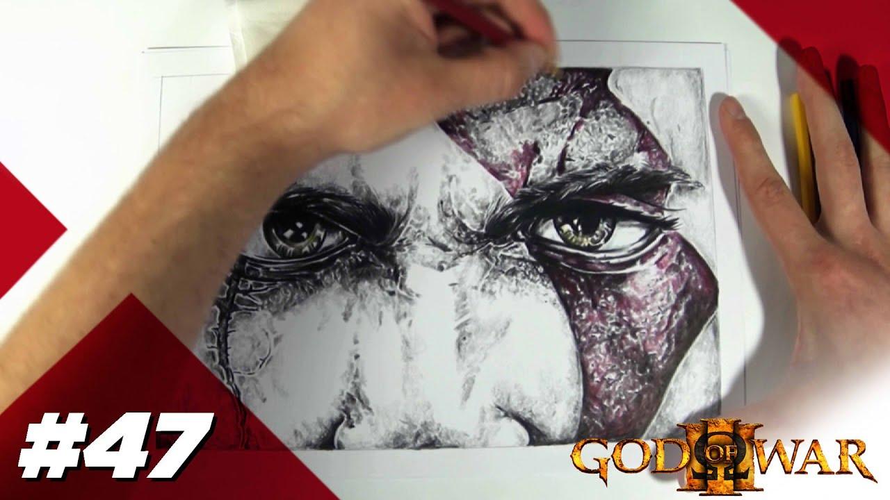 Ag 47 Kratos Gow Lapis De Cor Speed Draw Youtube
