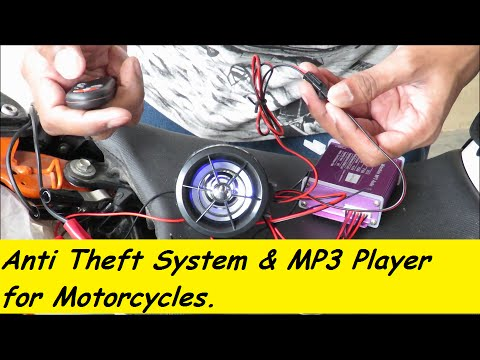 Motorcycle Anti-Theft System & MP3 Player with Speakers.