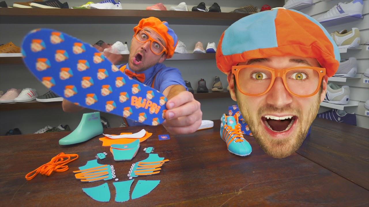 Blippi Explains: How To Make Shoes (unboxing)