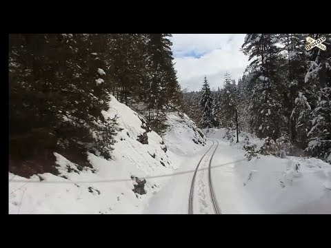 Cab view Yakoruda Velingrad (Rhodope railway Bulgaria)