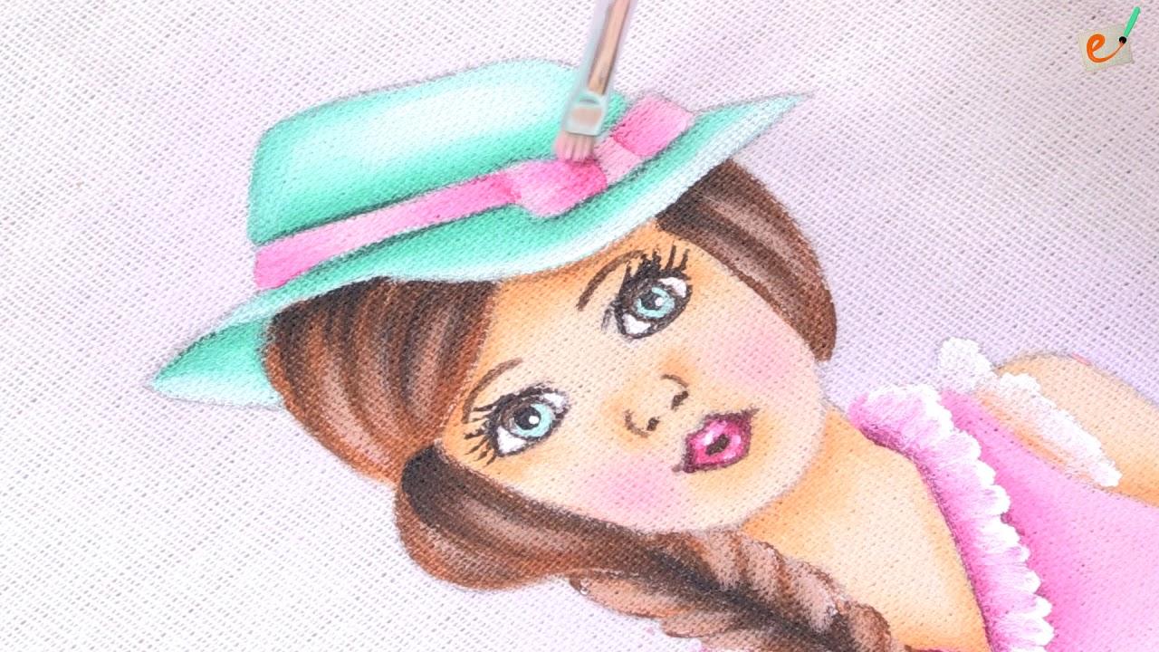 Bonecas Com Vestido De Croche Pintura Em Tecido Youtube