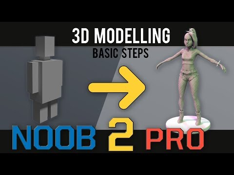3D Modelling - Noob to Pro - Basic Steps