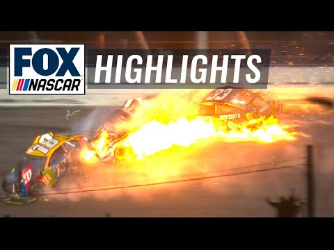 FINAL LAPS: McDowell avoids massive wreck to win the 2021 Daytona 500 | NASCAR ON FOX HIGHLIGHTS