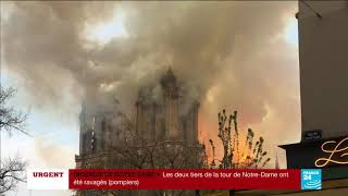 NO COMMENT - Incendie de la cathédrale Notre-Dame de Paris
