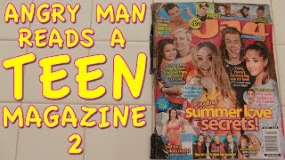 Angry Man Reads a Teen Magazine 2