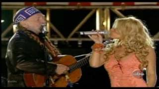 Jessica Simpson & Willie Nelson   ** These Boots Are Made For Walkin **  Live and Hot