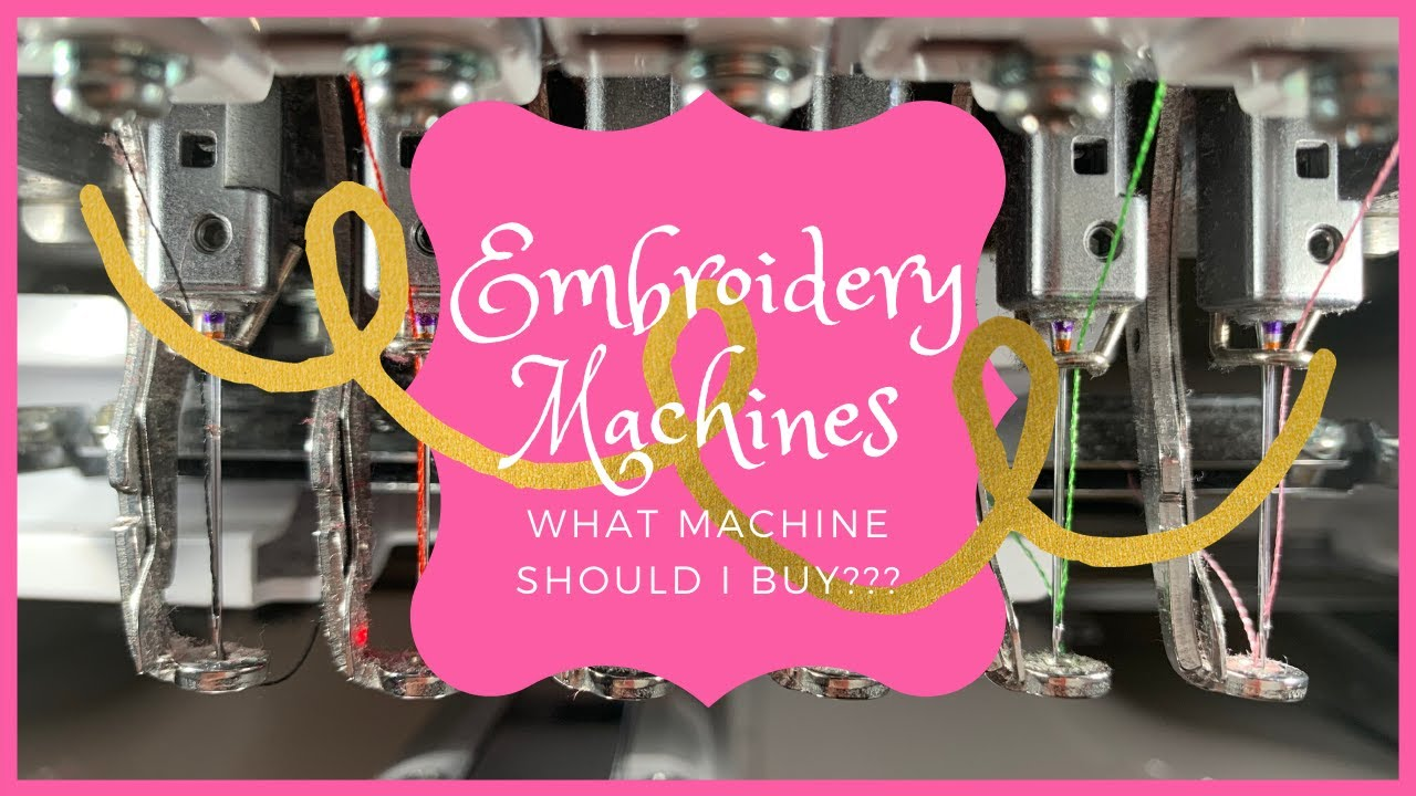 What Embroidery Machine should I buy? Home business Single ...