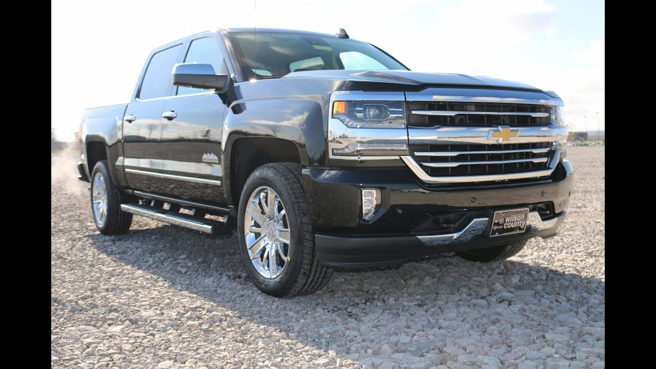 2016 Chevrolet Silverado 1500 Crew Cab High Country 4x4 6 2l Black Wilson County Motors Lebanon Tn