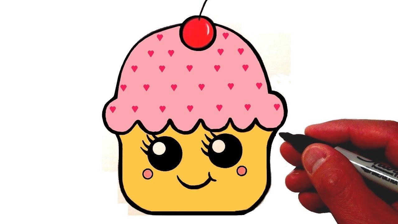 Cute Cupcake Drawings Id E D 39 Image De G Teau