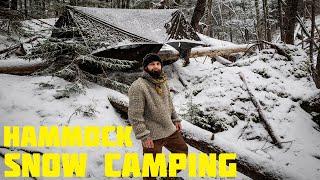 Solo Hammock Snow Camping
