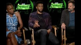 Danai Gurira, Chadwick Boseman & Mark Ruffalo - AVENGERS: INFINITY WAR