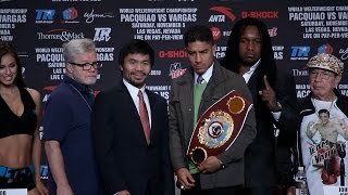 Manny Pacquiao vs. Jessie Vargas Full Final Press Conference & Face Off Video